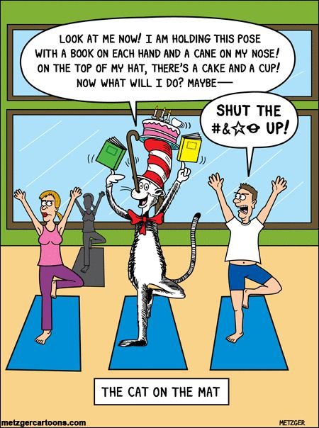 The Cat in the Hat tries Yoga! And it doesn't work out too well! Find yoga mats and accessories on theyogamatstore.com. Free shipping on all orders!
