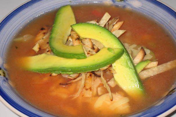 Copycat El Chico's Chicken Tortilla Soup - IT'S AMAZING!!!!!