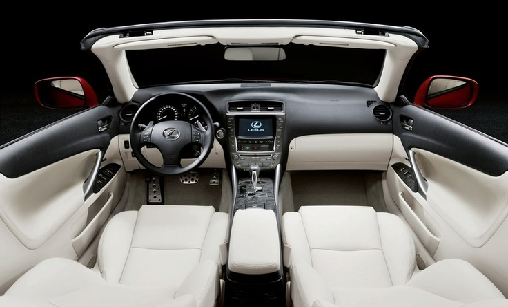 Interior for a Lexus convertible... Now that's luxury