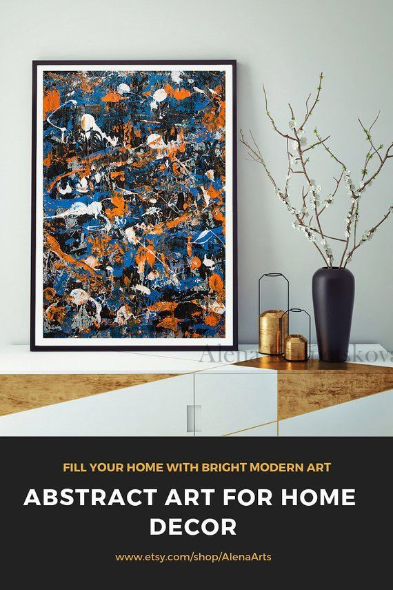 Abstract Painting Jackson Pollock Large Wall Art Modern Home Etsy Large Abstract Wall Art Blue Art Prints Modern Wall Art Canvas