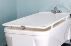 Height Adjustable Bath with Neatfold Changing Table
