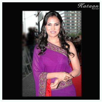 Lara dressed in a beautiful Purple