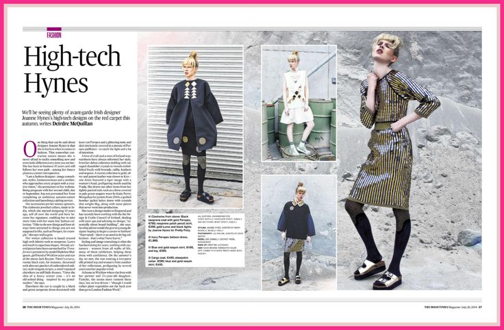 JOANNE HYNES | AW14 | The Irish Times | Photo by Lee Malone | Styling by Joanne Hynes |