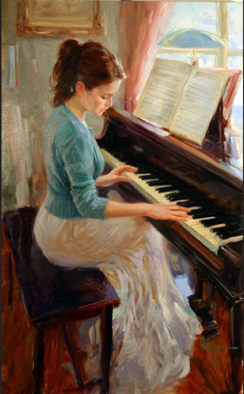 Vladimir Volegov - Melody Painting,  He has quite the collection of beautiful portraits and hilarious celebratory cartoon caricatures. Vladmire began pianting at the age of three and began winning competitions and awards for his poster art in 1984. He began traveling through Europe in 1990 and earning money painting portraits on the streets.  #piano #music
