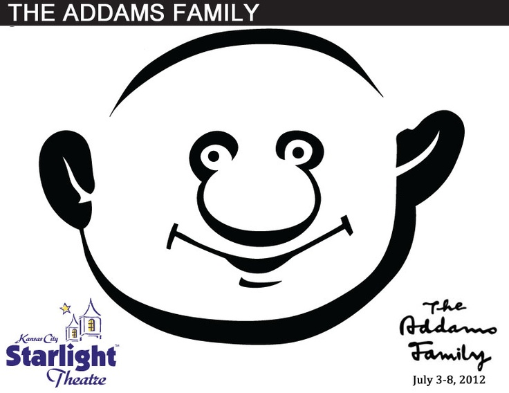Here are some great creepy-kooky stencils for Addams Family themed jack-o-lanterns!