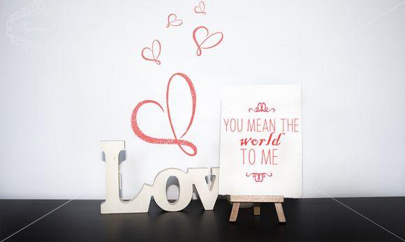 Romantic card mock up by digitalopedia on Creative Market