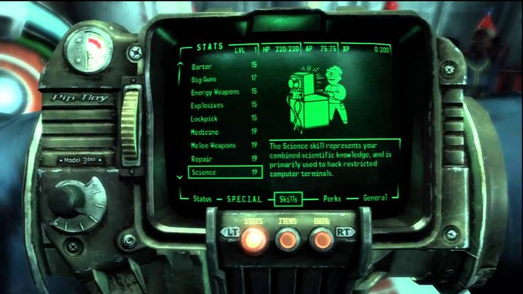 The Pipboy - Fallout 3 Gameplay