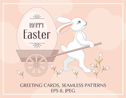 """Check out new work on my @Behance portfolio: """"Happy Easter. Set"""" http://be.net/gallery/47998177/Happy-Easter-Set"""