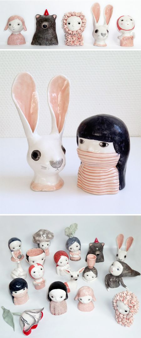 first of all, I love the jealous curator, second of all, these are the cutest ceramics in the world.