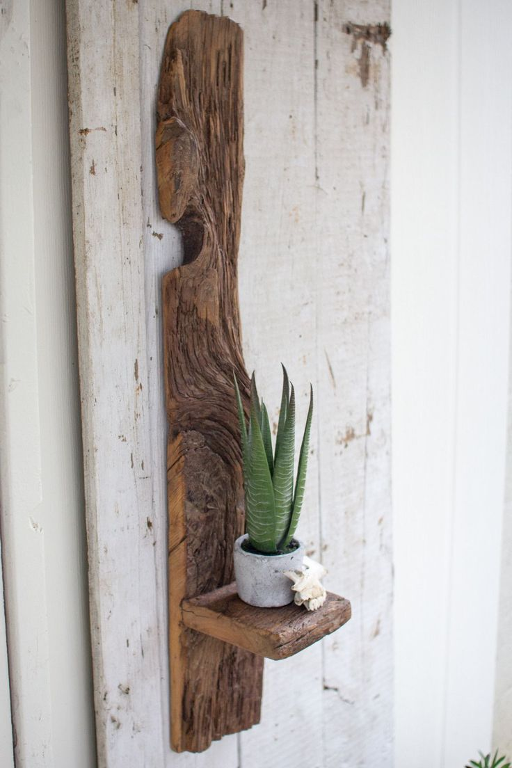 TALL RECYCLED WOOD WALL SHELF #woodworkingplans