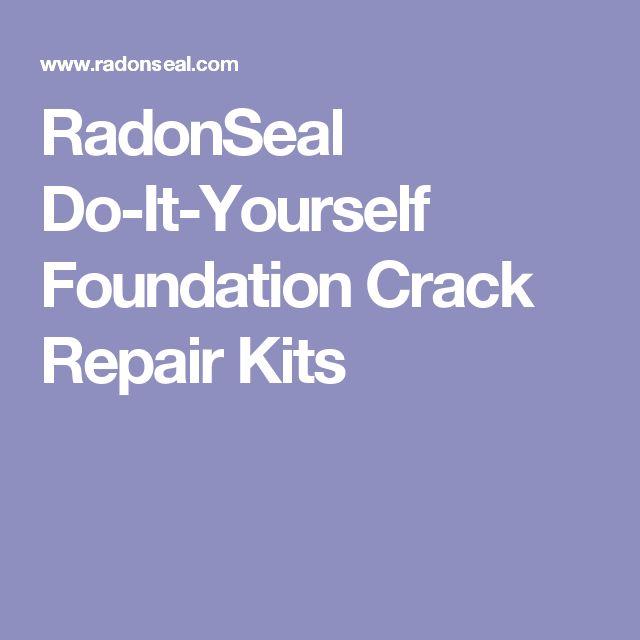 RadonSeal Do-It-Yourself Foundation Crack Repair Kits