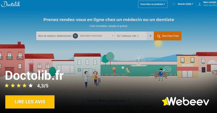 Avis sur Doctolib.fr, site de prise de rendez-vous avec un médecin en ligne.