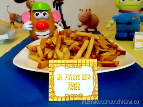 Toy Story Party Food Fries-maybe potato chips instead.