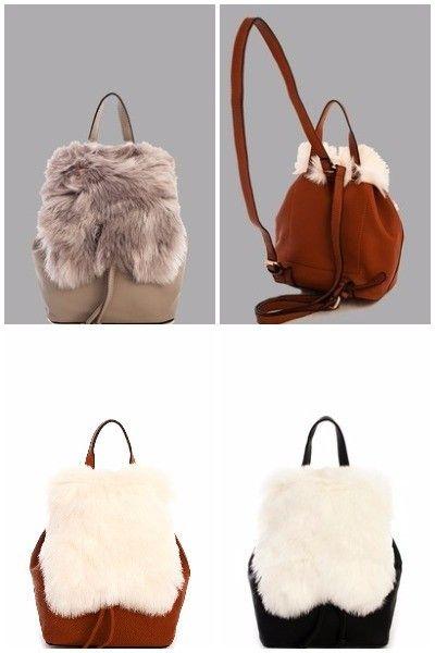 Trendy Soft Fur Cute Backpack