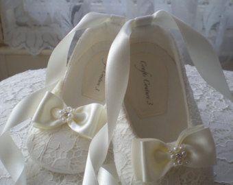 Marfil zapatos de bebé boda Florista u ocasión especial bebé