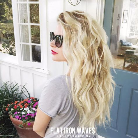 flat iron waves the beauty dept