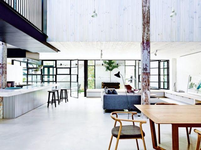 Loft australien dans une ancienne chocolaterie Vogue via Nat et nature