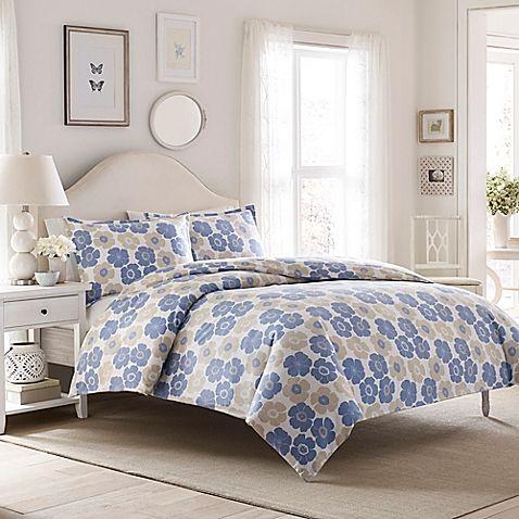 Laura Ashley® Poppy Bloom Flannel Duvet Cover Set