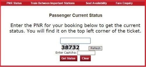indian railways reservation status  PNR Status Fare Live Status