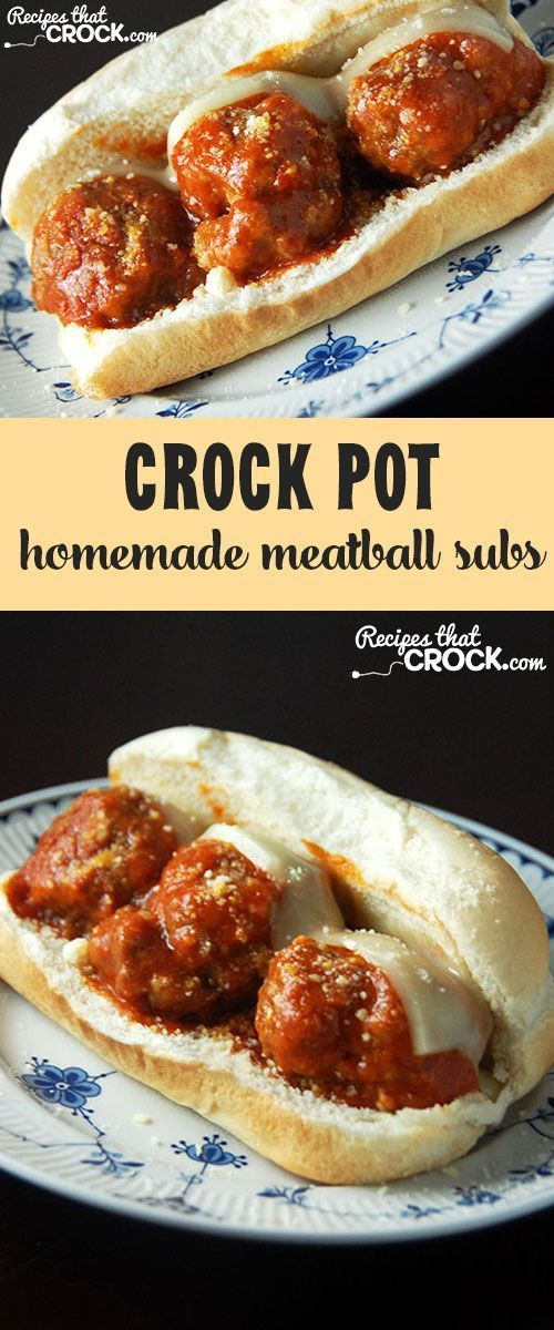 Crock Pot Homemade Meatball Subs: Easy to make and so delicious!
