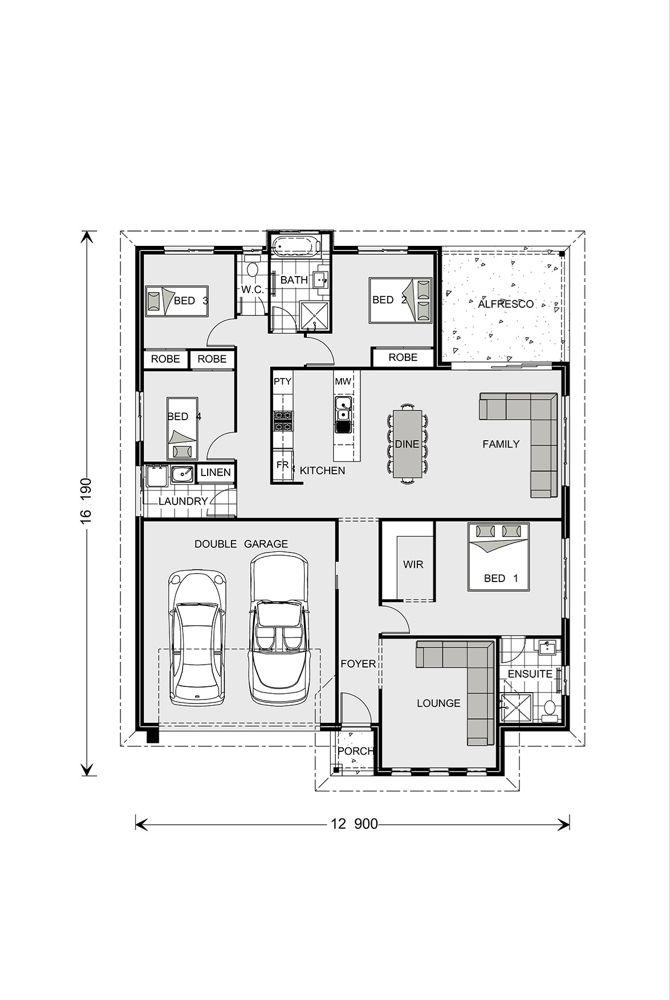 Fernbank 262 Design Ideas Home Designs In G J Gardner Homes Floor Plan Design House Design Bathroom Floor Plans