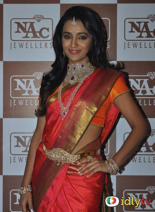 Trisha Krishnan in saree at NAC Jewellery