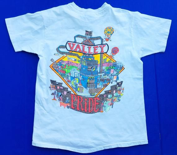 Vintage Los Angeles Times Valley Pride Shirt Size Large Single Stitch Shirt Los Angeles Newspaper La Times In 2020 Vintage Shirts Vintage Los Angeles Mens Graphic Tshirt
