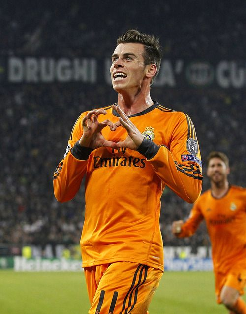 Gareth Bale after scoring his first Champions League goal for Real Madrid.