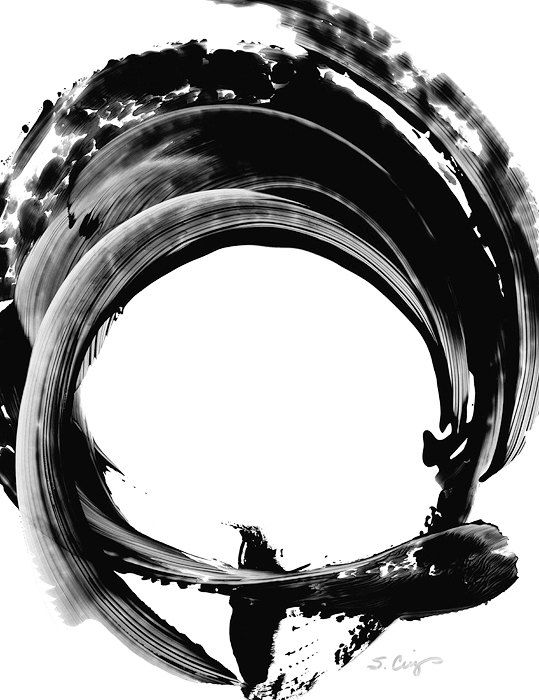 Black and White Painting BW Abstract Art Artwork High Contrast Depth Black Magic 304 Minimalism Minimalist Modern Contemporary Cummings