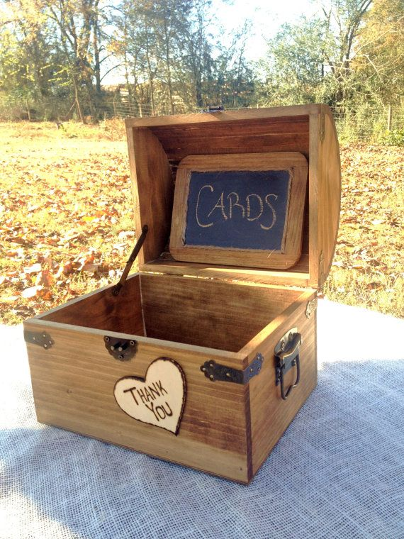 Maybe make myself-Large Shabby Chic and Rustic Wooden Card Box  by CountryBarnBabe, $55.00 @ Etsy