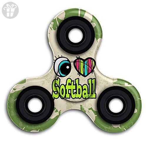 Love Softball Hand Toy Tri Figit Spinners EDC ADHD Focus Anxiety Stress Relief Boredom Killing Time Toys - Fidget spinner (*Amazon Partner-Link)