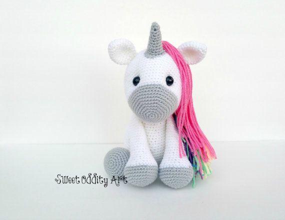 unicorn crochet pattern unicorn pattern crochet por SweetOddityArt