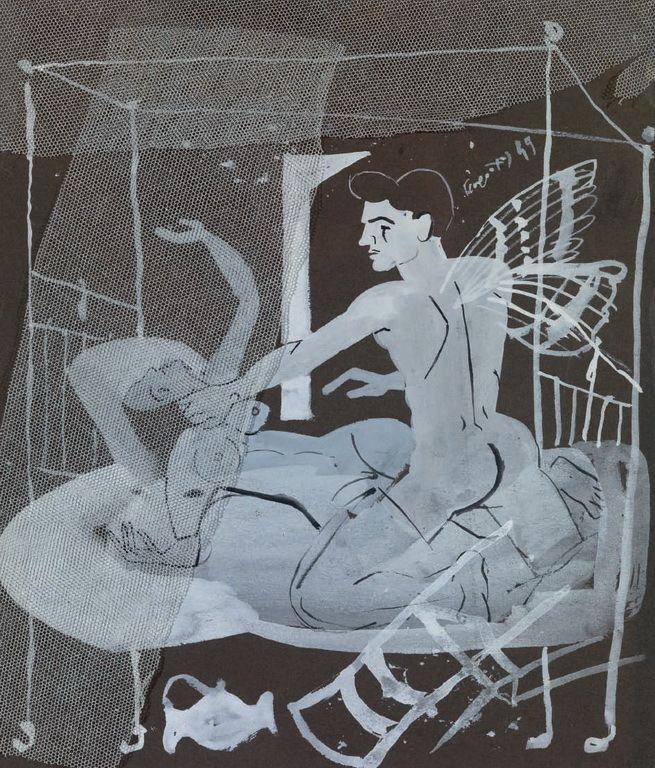 Τσαρούχης Γιάννης-Κρύο, καιρός για δύο, 1949 2 – Yannis Tsarouchis [1910-1989] | paletaart – Χρώμα & Φώς