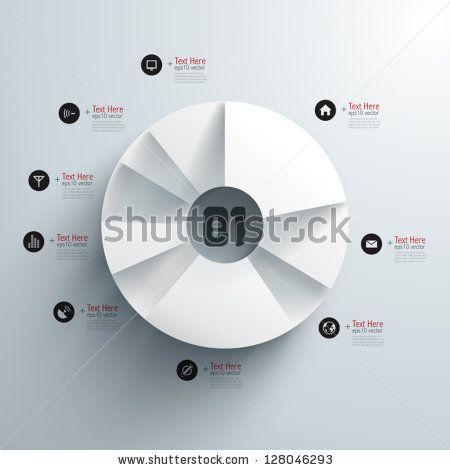 Pie chart/graph Abstract 3d Paper Infographics Stock Vector 128046293 : Shutterstock