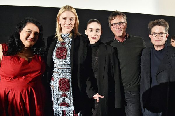 Cate Blanchett and Rooney Mara Photos Photos - (L-R)  Moderator Jenelle Riley, actresses Cate Blanchett, Rooney Mara, Director Todd Haynes and screenwriter Phyllis Nagy  attend a Q