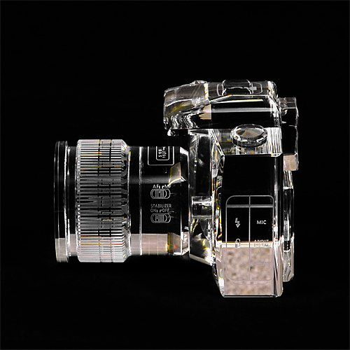 Crystal DSLR Camera #Bookends for the #photographer in your life