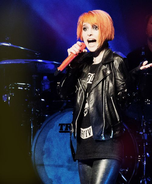 Hayley Williams of Paramore absolutely rocks the short hair! I want to cut my hair but not sure if I'd go this short. Love it on Hayley though!