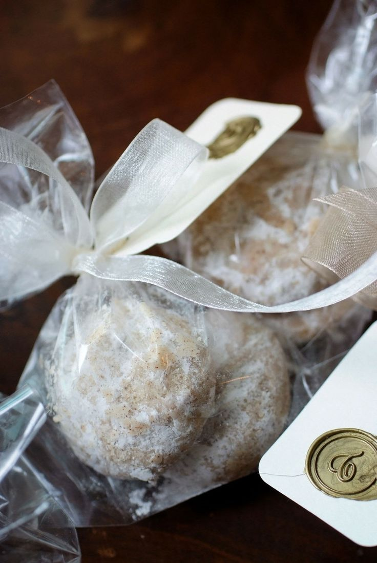 Spiced Mexican Wedding Cookies. These would make a great wedding favor for each place setting!