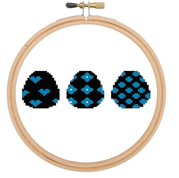 Cross stitch pattern  Easter eggs set of 3 by CraftwithCartwright