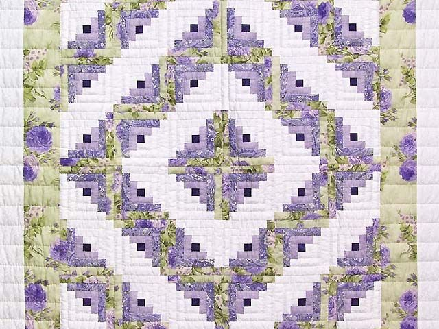 Log Cabin Quilt -- splendid specially made Amish Quilts from Lancaster. Love the color combination.