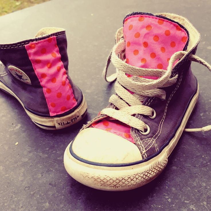 Making Old New again! Add extra colour to old navy allstars