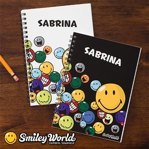 SmileyWorld® Personalized Mini Notebooks-Set of 2