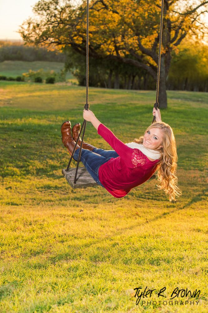 @kaybear099 - Rope Swing - Luscombe Farms - Senior Portraits - #seniorpics - Class of 2015 - Senior Pictures - Sunset - Ideas for Girls - Heritage High School - Fall - Field - Riding Boots - Tyler R. Brown Photography