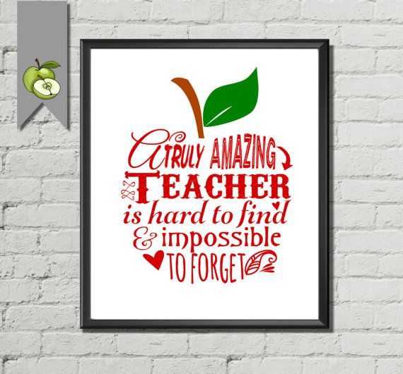 Teacher Appreciation gift a Truly amazing Teacher by TheArtyApples