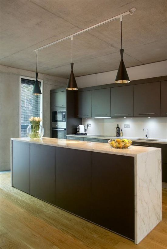 An Easy Kitchen Update with Pendant Track Lights