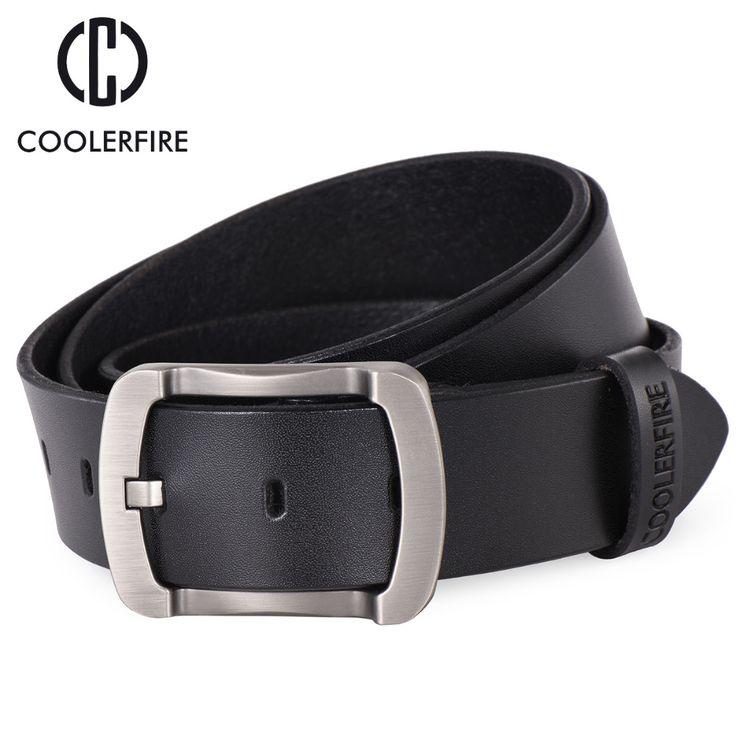 100% cowhide genuine leather belts for men cowboy Luxury strap brand male vintage fancy jeans black belt high quality HQ024