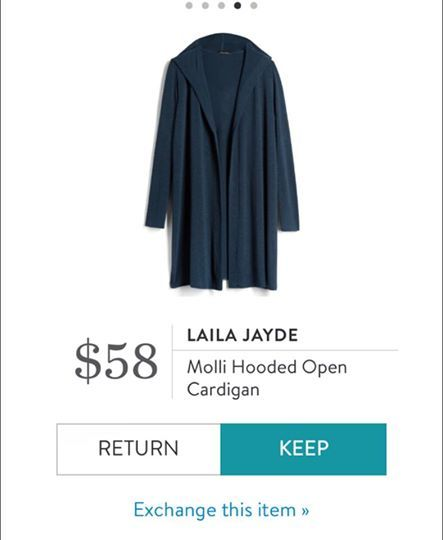 Laila Jayde Molli Hooded Open Cardigan. I love Stitch Fix! A personalized styling service and it's amazing!! Simply fill out a style profile with sizing and preferences. Then your very own stylist selects 5 pieces to send to you to try out at home. Keep what you love and return what you don't. Only a $20 fee which is also applied to anything you keep. Plus, if you keep all 5 pieces you get 25% off! Free shipping both ways. Schedule your first fix using the link below! #stitchfix @stitchfix…
