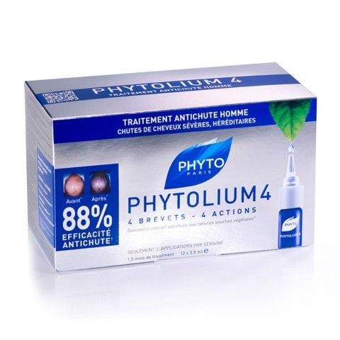 PhytoLium 4 Εντατικό συμπύκνωμα κατά της τριχόπτωσης - Έντονη & κληρονομική τριχόπτωση Τριχόπτωση PHYTOLIUM 4 Υψηλή φυτική τεχνολογία   1ο καινοτόμο σύμπλοκο από σιτάκε + φυτικά βλαστοκύτταρα  που προστατεύει τα κύτταρα των θυλακίων. Ανανεώνει ορατά το Κεφάλαιο των Μαλλιών  98% φυτικά συστατικά     Διπλή αποτελεσματικότητα: καταπολέμηση της τριχόπτωσης και πυκνότητα.