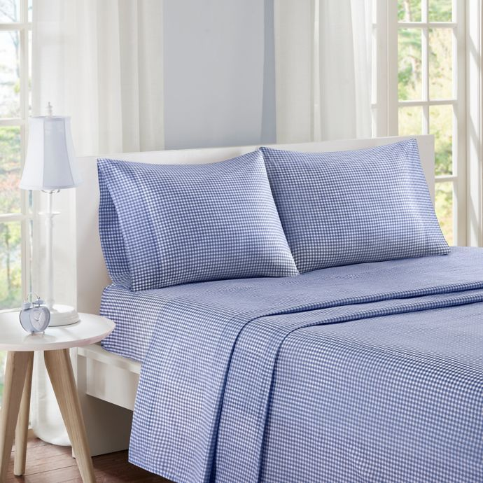 Bed Bath And Beyond Twin Size Sheet Set Flat Fitted Pillow Case