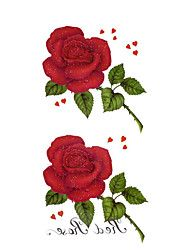 5 stuks rose waterproof tijdelijke tatoeage (18.5cm * 9cm)